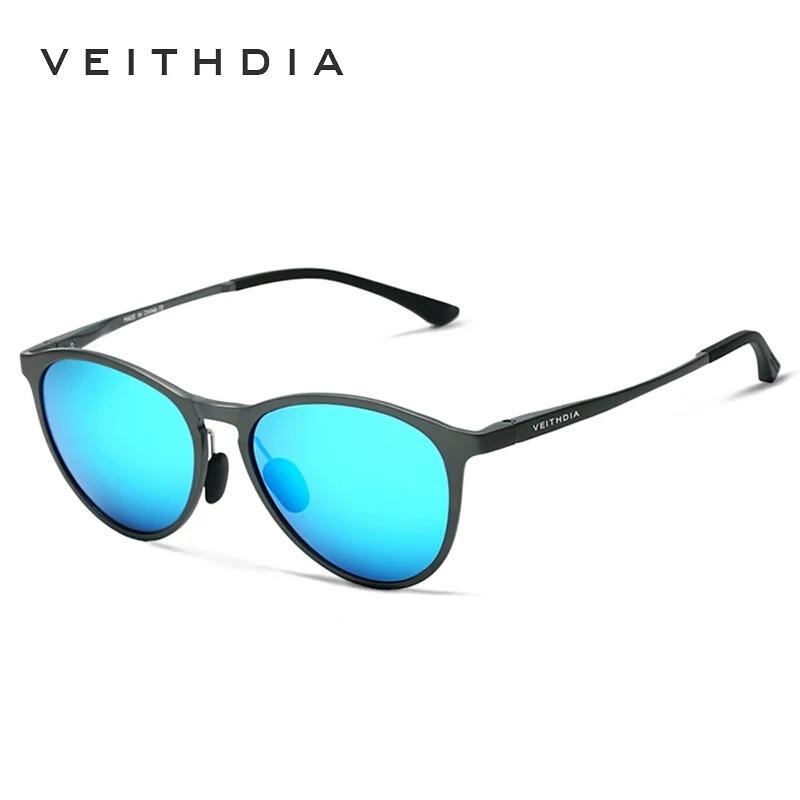b414c7c209f8f óculos de sol redondo feminino masculino polarizado alumini. Carregando zoom .