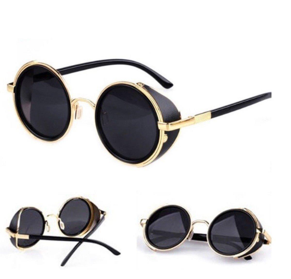 óculos de sol redondo feminino masculino steampunk vintage. Carregando zoom. 587152076c