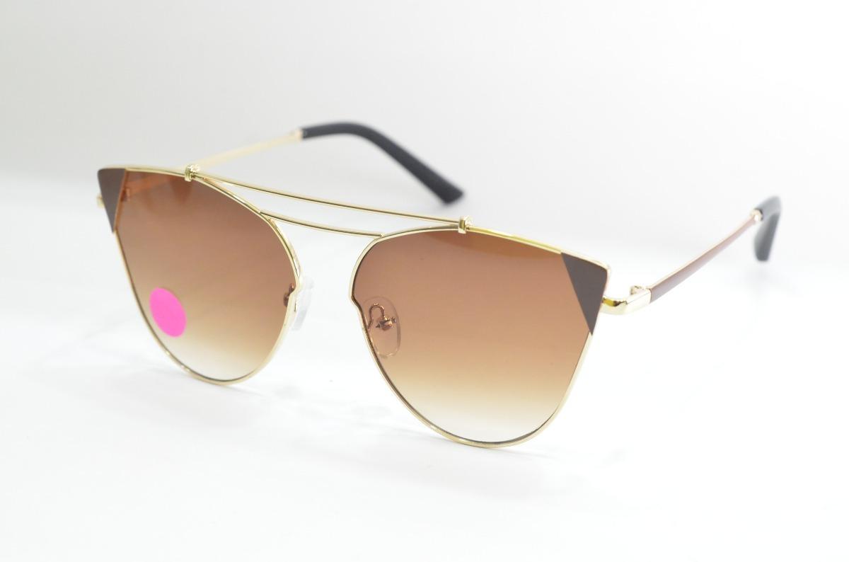d8900af30d814 óculos de sol redondo gatinho sabrina sato dourado e marron. Carregando zoom .
