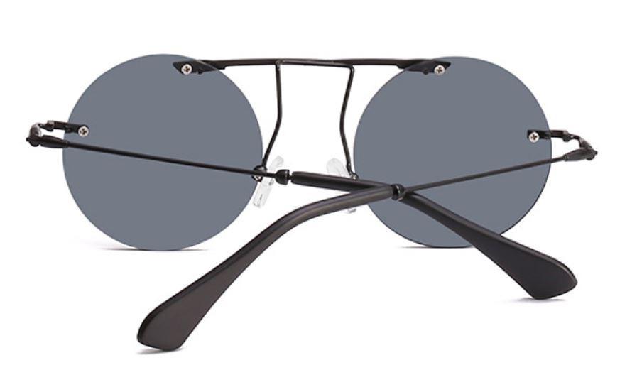 óculos de sol redondo gótico vintage retrô steampunk+ brinde. Carregando  zoom. f51f8696e8