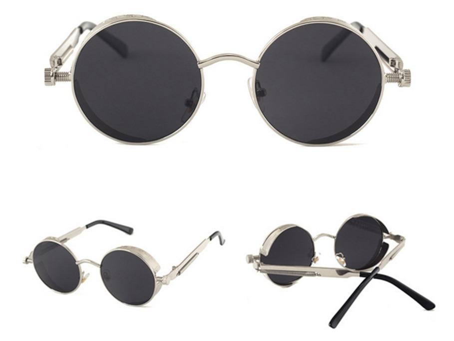 oculos de sol redondo haste mola retro lennon vintage gótico. Carregando  zoom. dcfb15707f