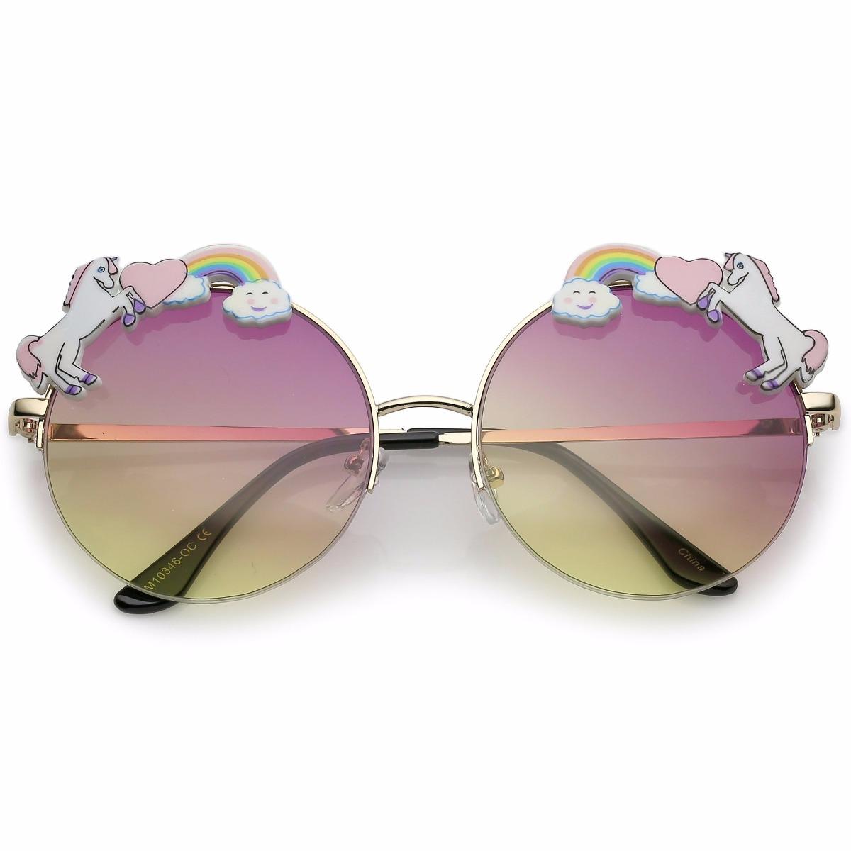 d34785f50 Óculos De Sol Redondo - Lentes Coloridas - Unicornio - R$ 121,00 em ...