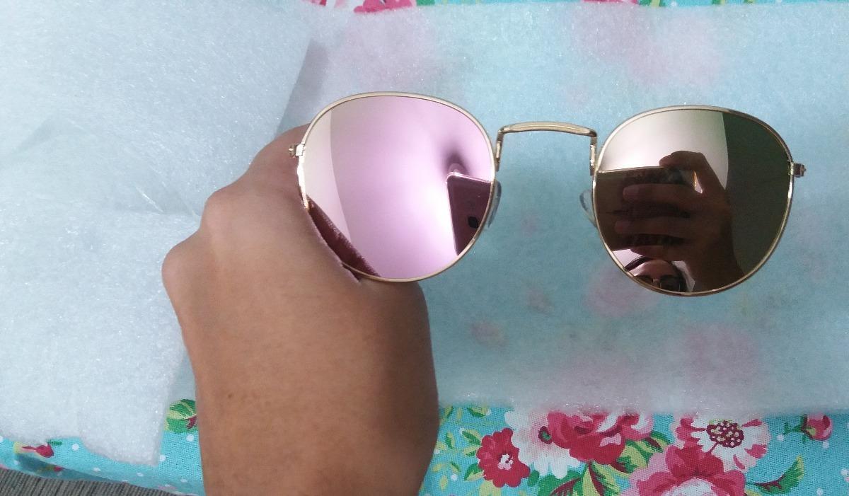 1c885e38d4dc3 Óculos De Sol Redondo Lentes Espelhadas Uv 400 - R  38,99 em Mercado ...
