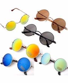 Óculos De Sol Redondo Masculino   Feminino 5 Unidades - R  122,96 em ... 09f1132fc1