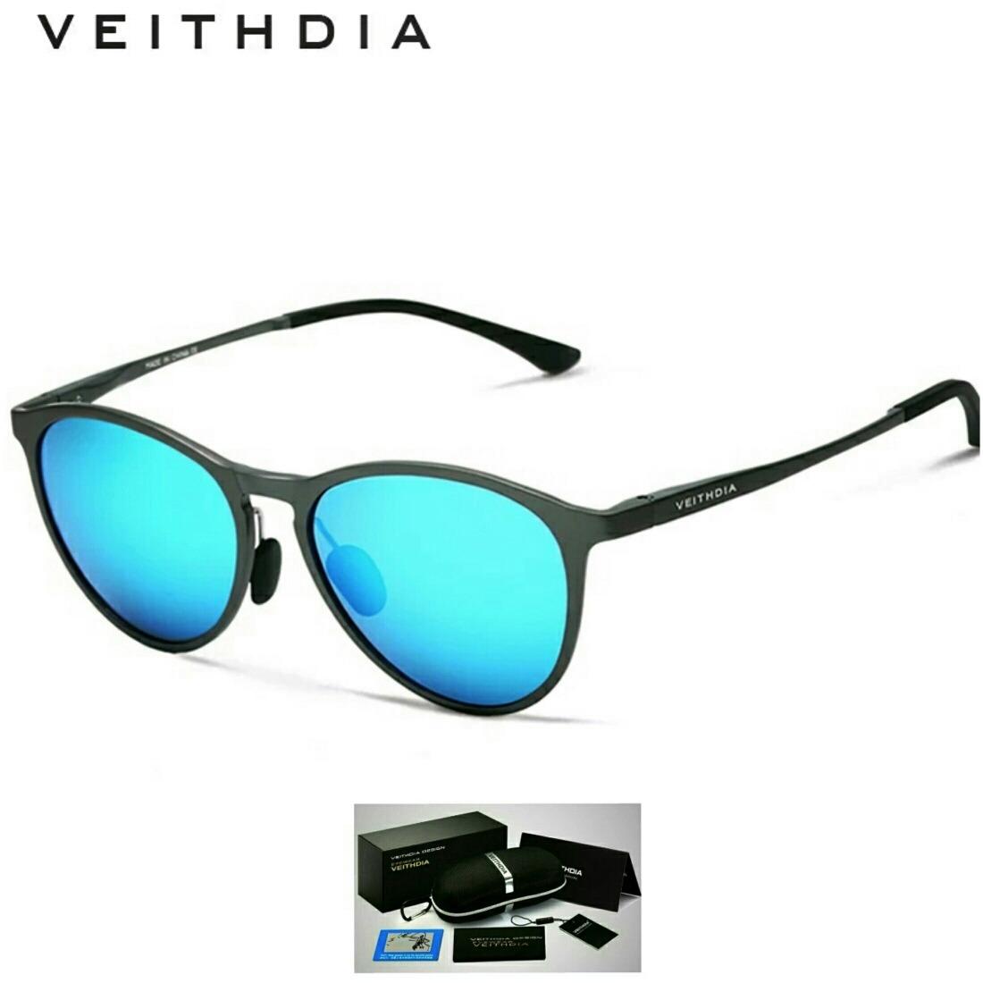 8af0cc36b4064 óculos de sol redondo masculino feminino polarizado veithdia. Carregando  zoom.