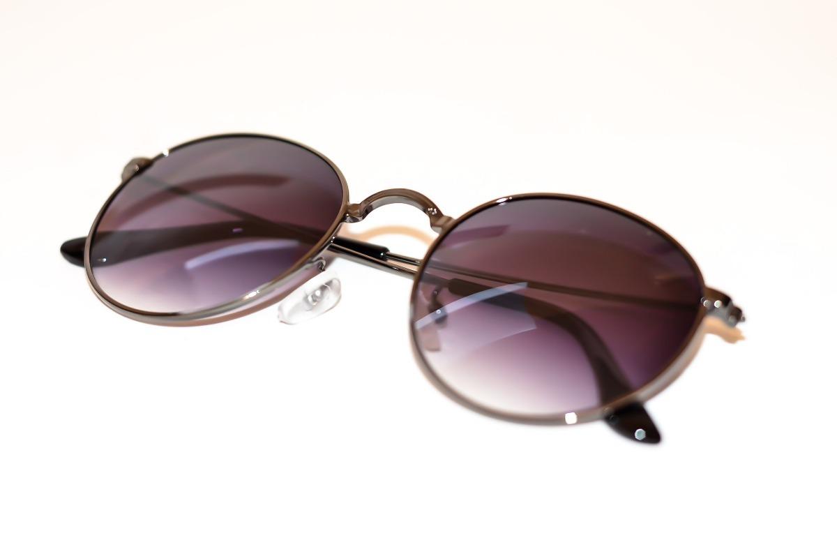 0253ffb8f9dc4 oculos de sol redondo masculino feminino preto lente degrade. Carregando  zoom.
