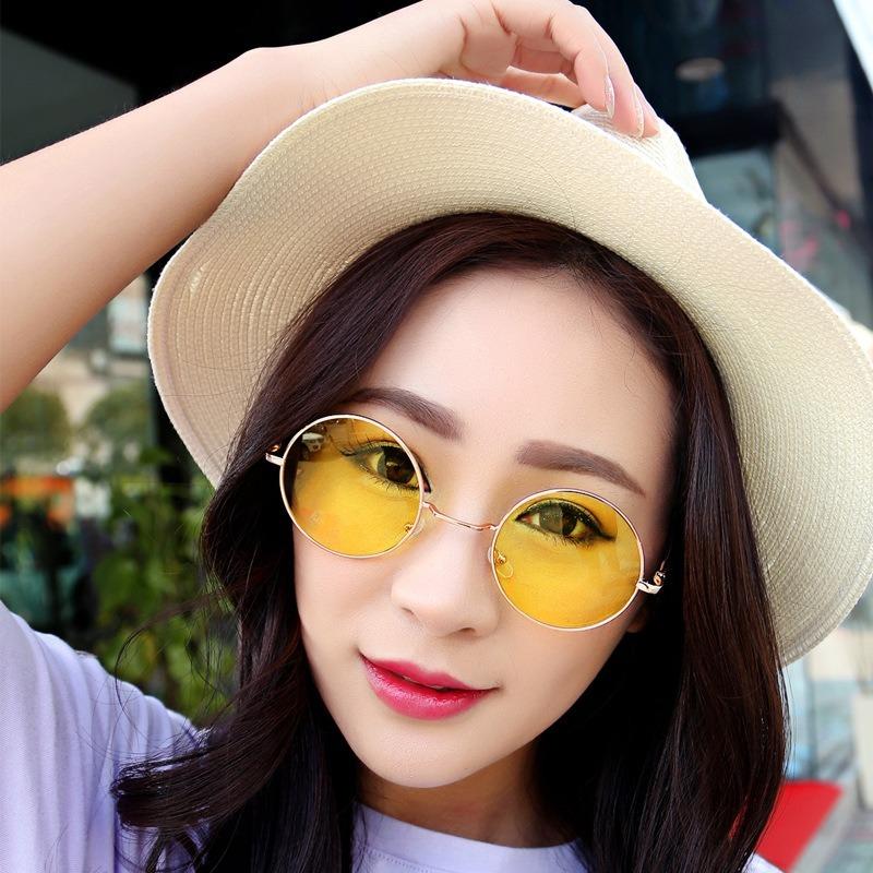 8856052306907 óculos de sol redondo masculino feminino proteção uv400. Carregando zoom.