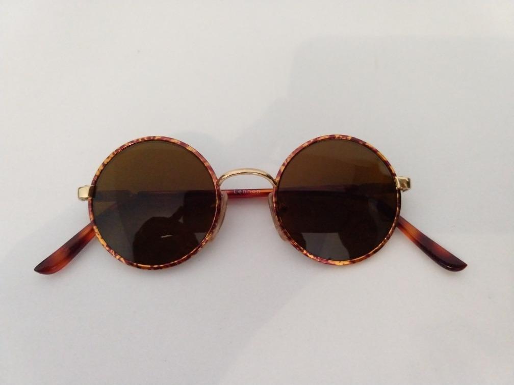 b304305bf óculos de sol redondo pequeno dourado john lennon. Carregando zoom.