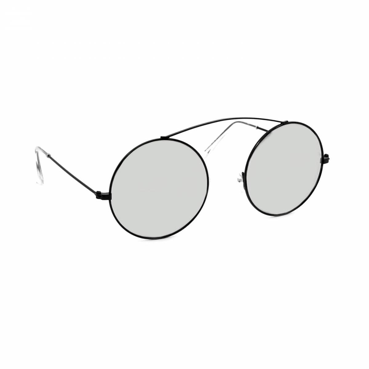 7f511dad2 Óculos De Sol Redondo Preto Espelhado - R$ 106,90 em Mercado Livre