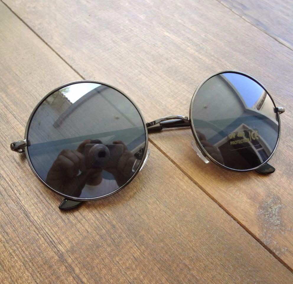d9ba7d05ba23e oculos de sol redondo preto feminino masculino proteção uv. Carregando zoom.