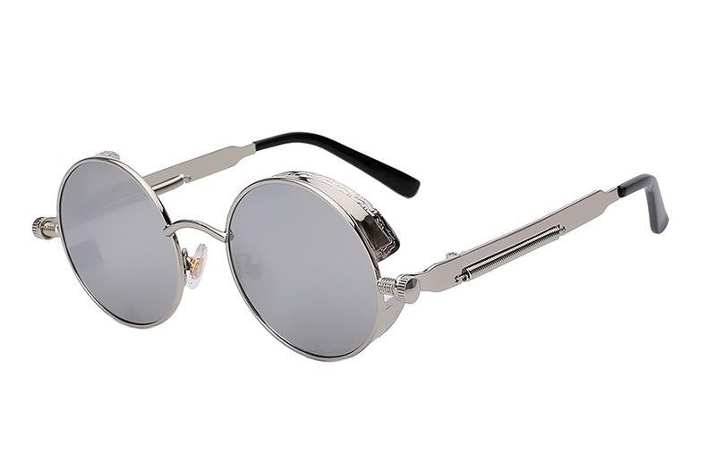 Óculos De Sol Redondo Retrô Vintage Steampunk - Várias Cores - R  65 ... 1a027c67e4