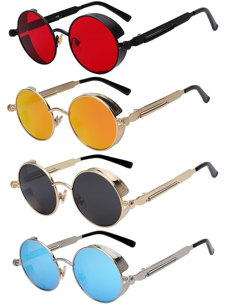 óculos de sol redondo retrô vintage steampunk - várias cores. Carregando  zoom. 938efcf2aa