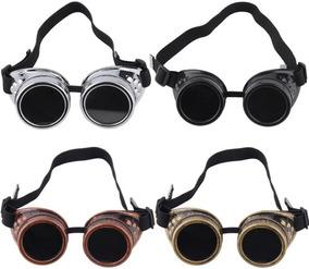 d3bd1e174 Óculos De Sol Redondo Steampunk Soldador - Gótico - Mad Max