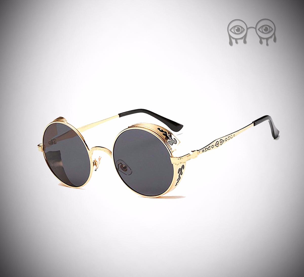 óculos de sol redondos retrô steampunk john lennon vintage. Carregando zoom. 39300a0722
