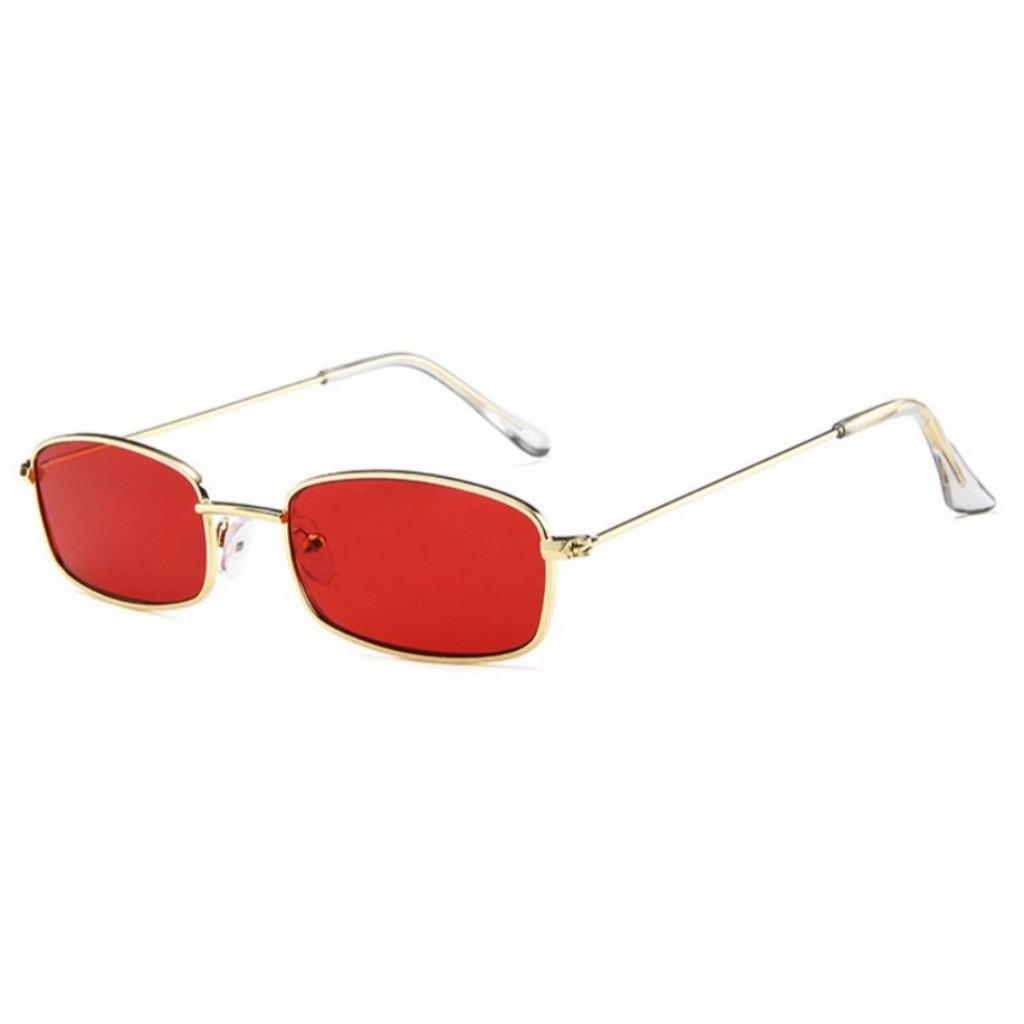 762943e97 óculos de sol retangular fino retrô vintage proteção uv400. Carregando zoom.