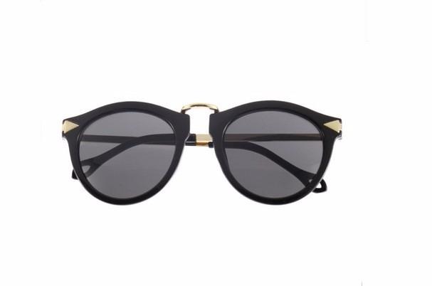 Óculos De Sol Retrô Dourado Preto Onça Feminino Importado - R  85,61 ... a9f0258c23