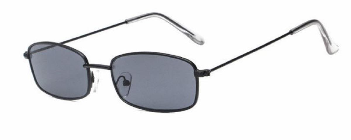 fc5a21eafa72e Óculos De Sol Retrô Fino Retangular Vintage Proteção Uv400 - R  120 ...