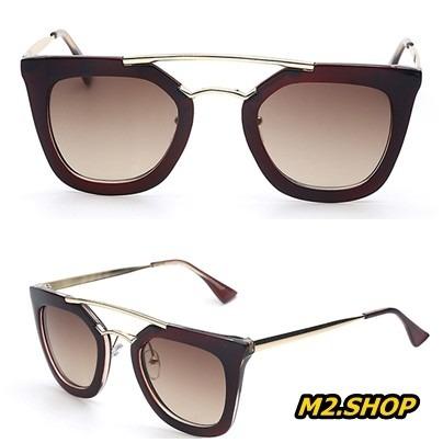 fec809f77 Óculos De Sol Retro Gatinho Geométrico Quadrado Vintage - R$ 55,00 ...