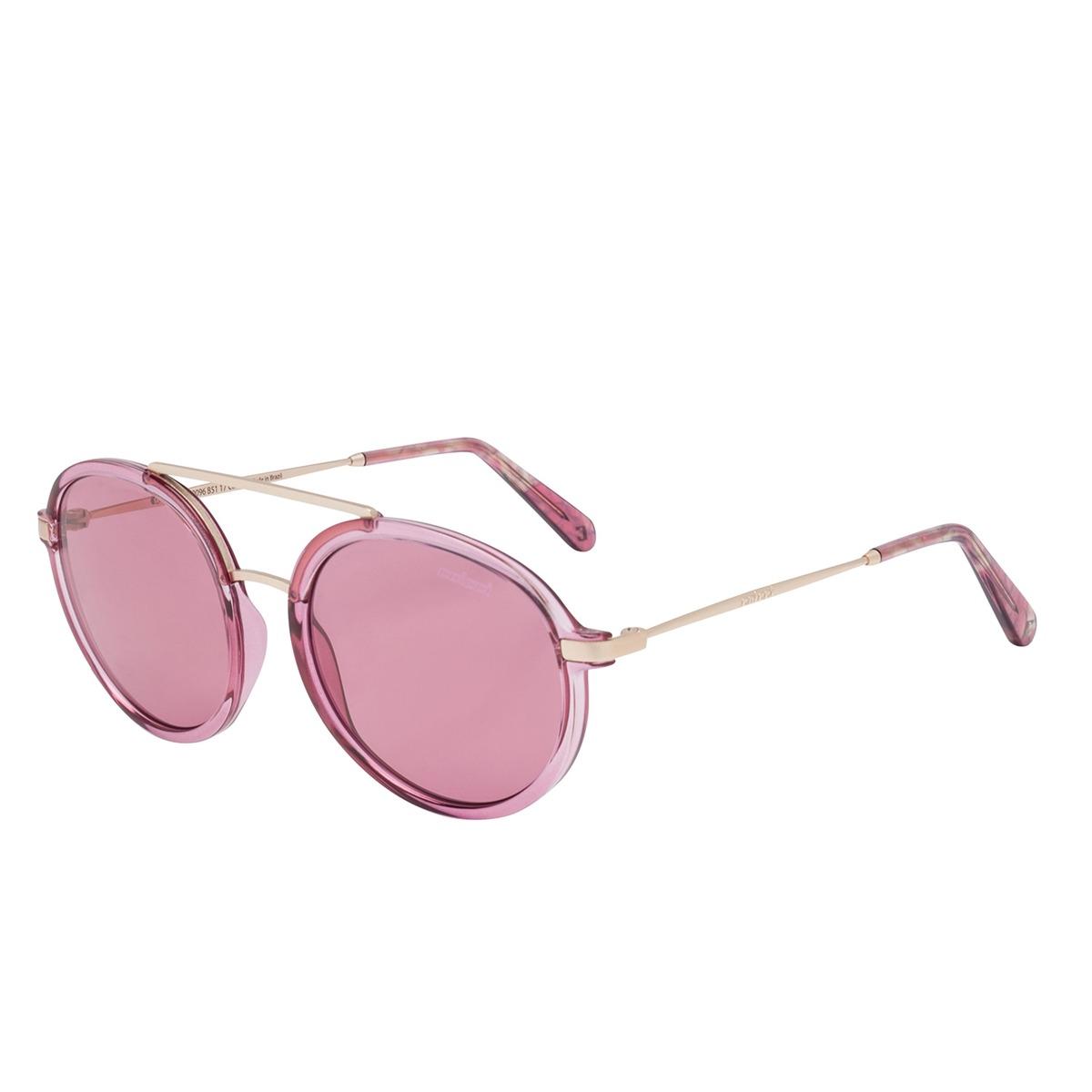 544404a6f óculos de sol rosa translucido e dourado c0096b5117 colcci. Carregando zoom.
