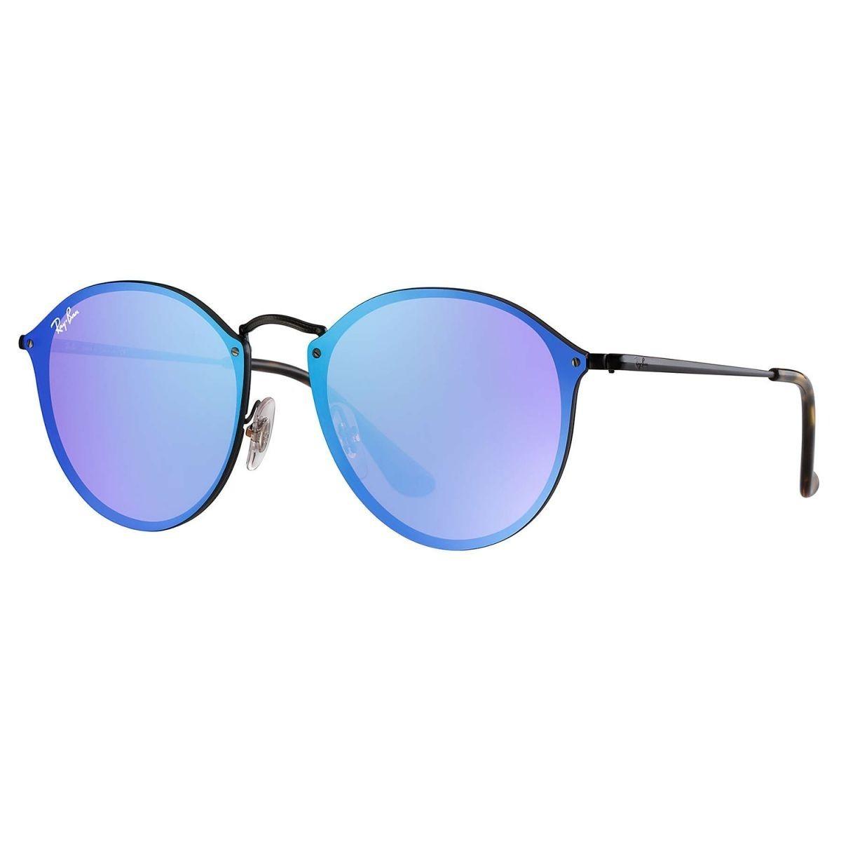 a0ed8c52fce1d oculos de sol round blaze azul espelhado masculino feminino. Carregando zoom .