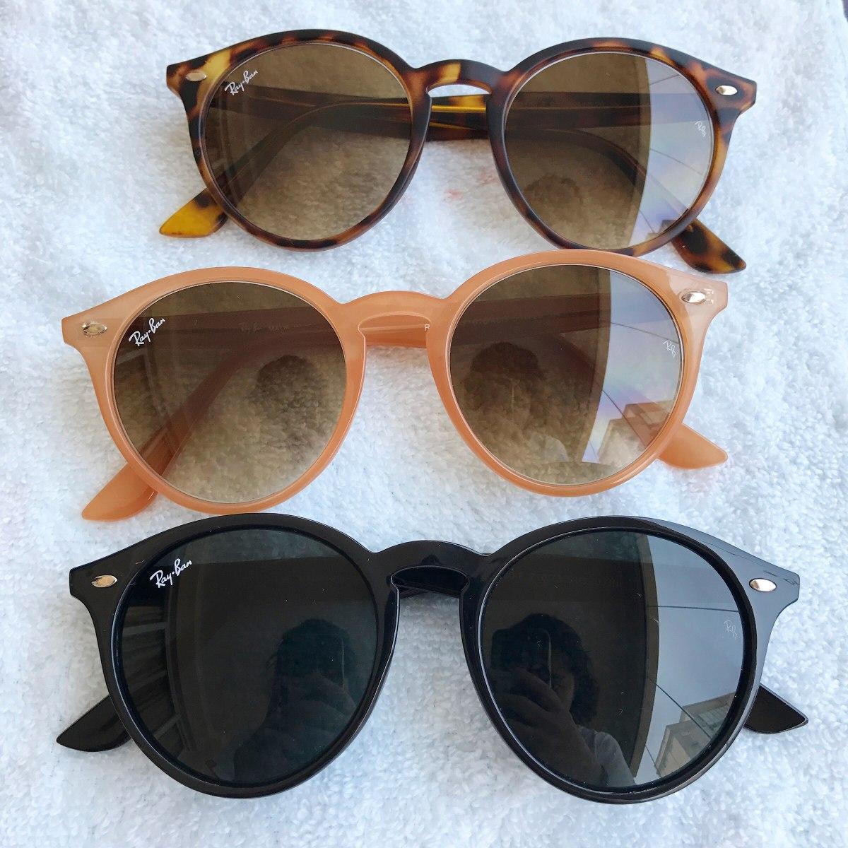 9e0c77b43f7d3 Óculos De Sol Round Highstreet Rb2180 Várias Cores - R  189