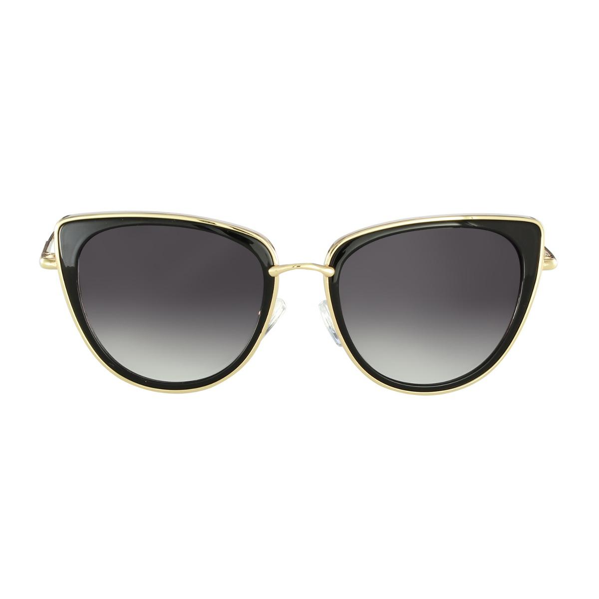 9ba4df4a436f8 Óculos De Sol Sabrina Sato Casual Dourado - R  350