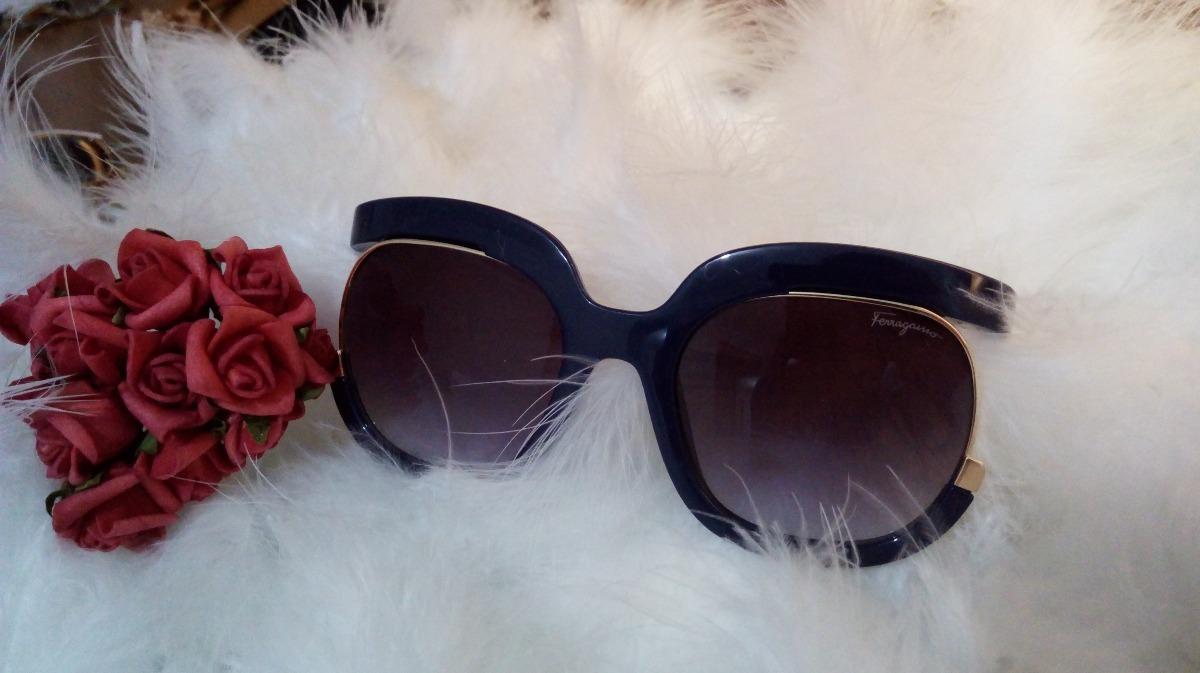 f6019c74e Óculos De Sol Salvatore Ferragamo Azul - Ref - Sf863 - R$ 179,90 em ...