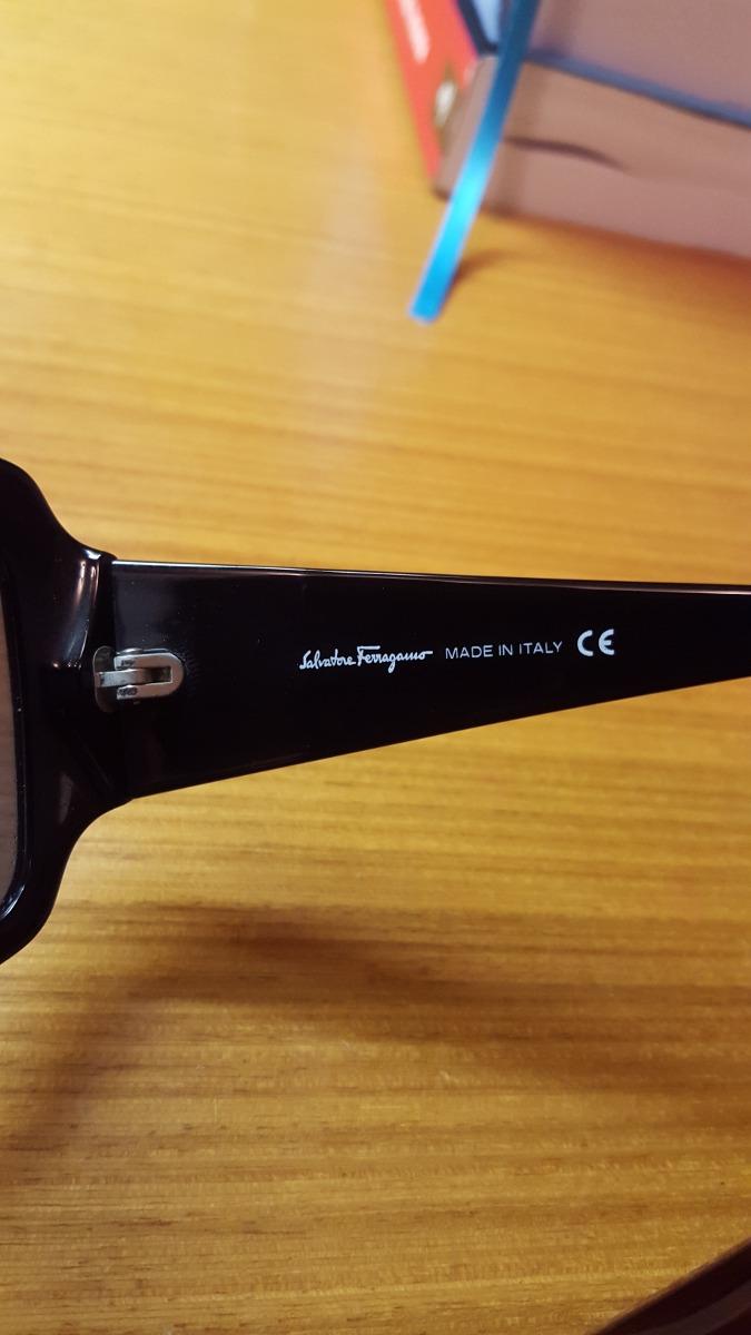 473ef7e1d óculos de sol salvatore ferragamo preto - italiano mod. 2096. Carregando  zoom.