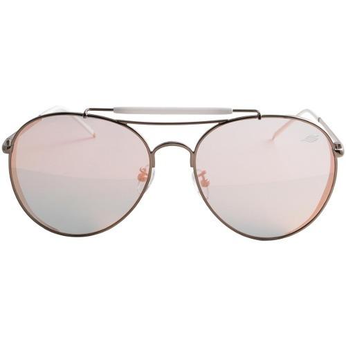 c4529a92d65e0 Óculos De Sol Sawary - Modelo Aviador - Lente Rosa Espelhada - R  99 ...