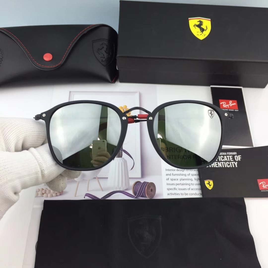 43cd94fbf Oculos De Sol Scuderia Ferrari Rb2448n Fleck Round - R$ 198,90 em ...
