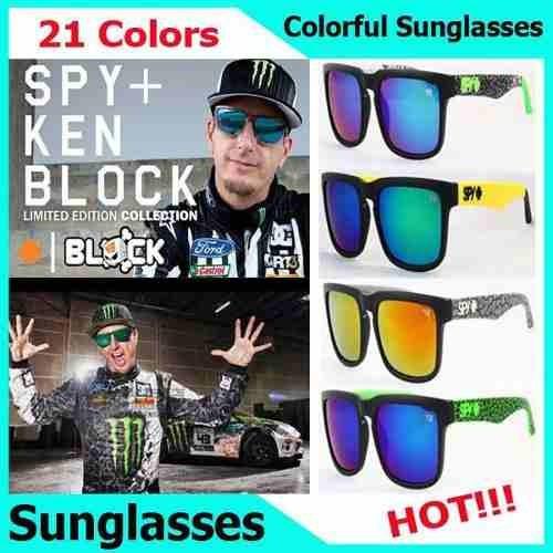 óculos de sol spy + ken block helm