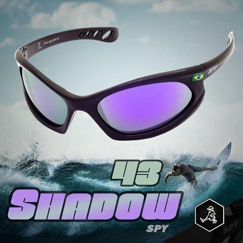 óculos de sol spy mod shadow 43 preto - lente ruby espelhada
