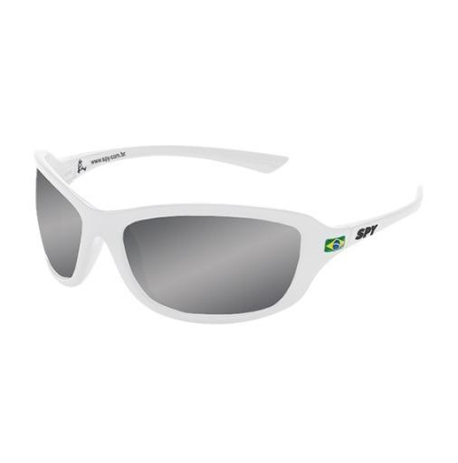 9e1337d79238e Óculos De Sol Spy Original - Link 44 Branco Lente Espelhada - R  187,49 em  Mercado Livre