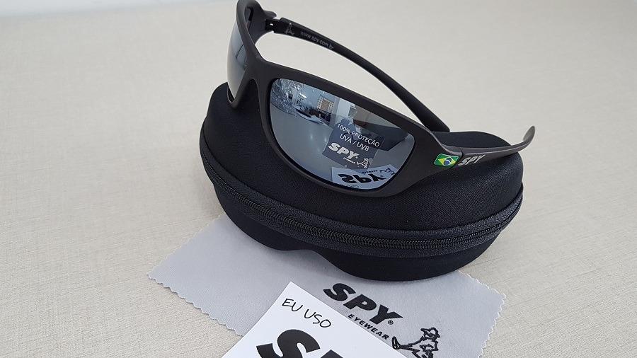 f1555dabe óculos de sol spy original link 44 preto brilho espelhado. Carregando zoom.