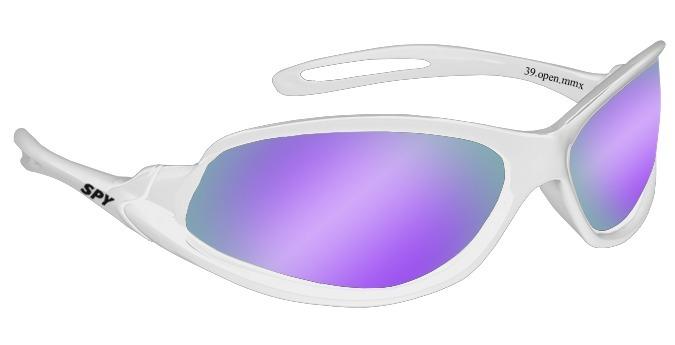 95b14001b Oculos De Sol Spy Original Md 39 Branca Lente Roxa Ref 052 - R$ 199 ...