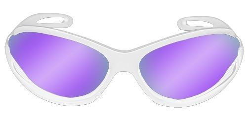 e2d5eae04 Oculos De Sol Spy Original Md 39 Branca Lente Roxa Ref 052 - R$ 199,90 em  Mercado Livre