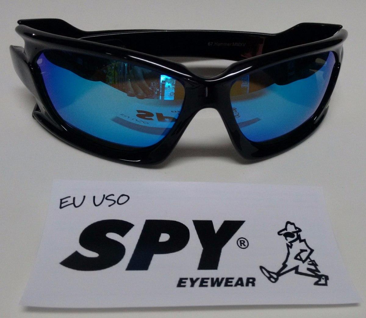 749b4b1dd0e5c oculos de sol spy original - md 67 preta lente azul ref 012. Carregando zoom .