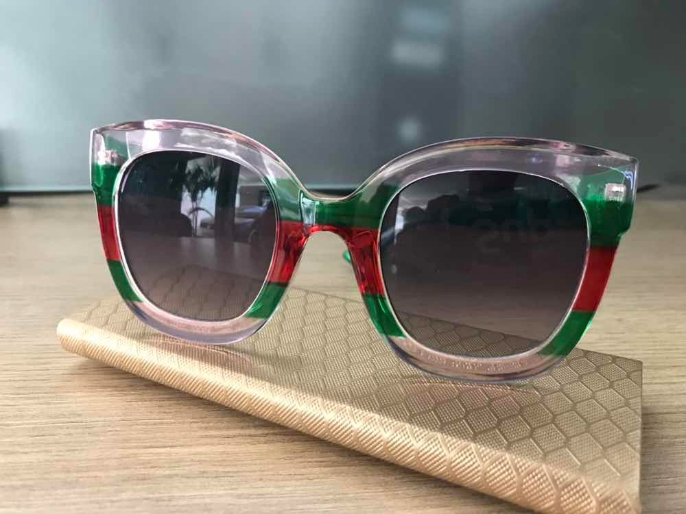 beb9325da7c60 Óculos De Sol Stars Estilo Gucci Colorido - R  120,00 em Mercado Livre