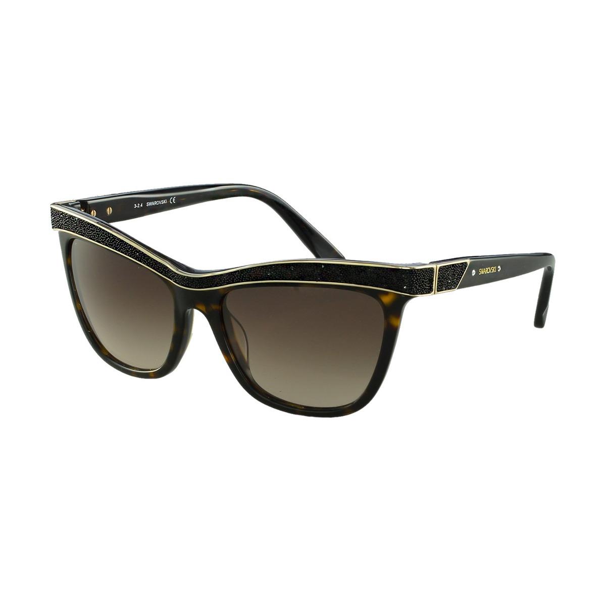 Óculos De Sol Swarovski Fashion Marrom - R  991,00 em Mercado Livre 92ff29cc64