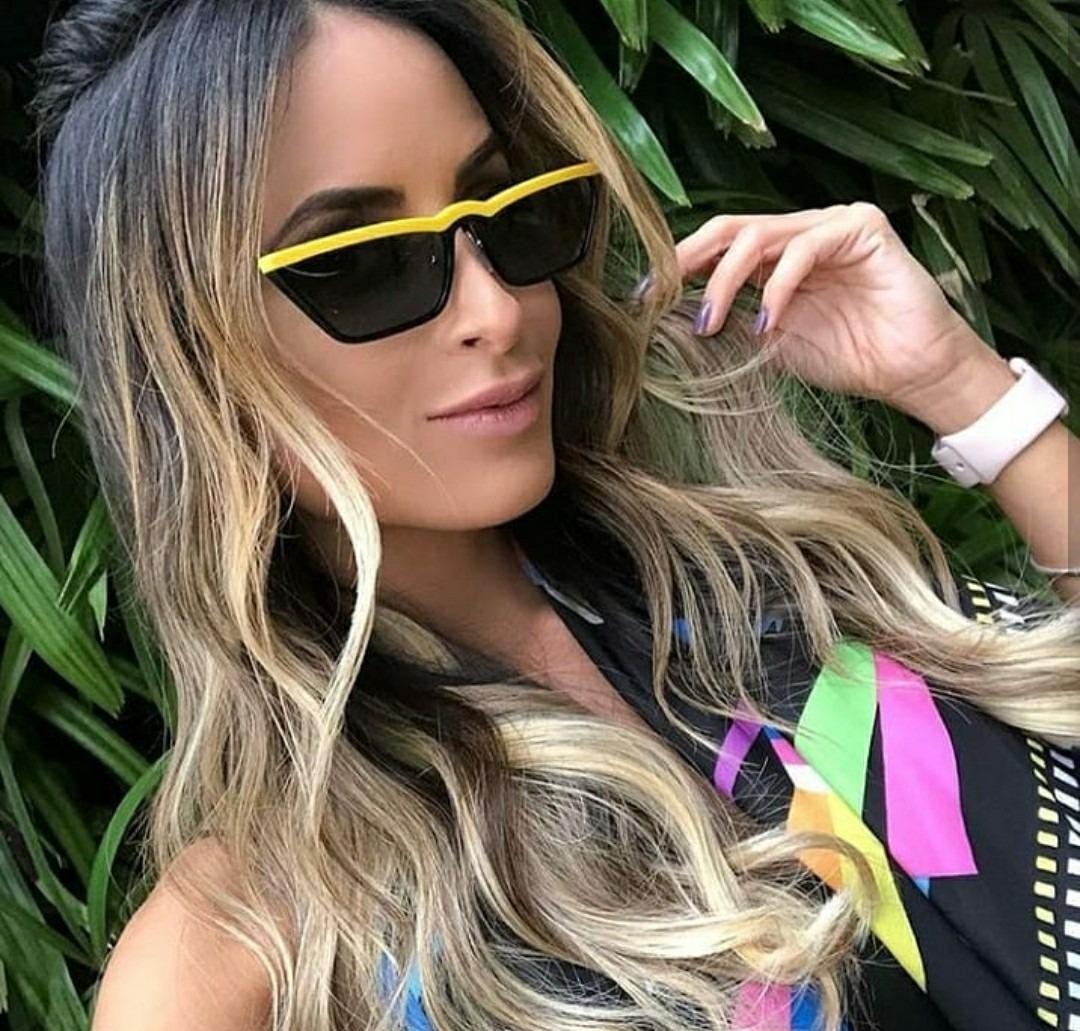 óculos de sol tendencia triangular luxuoso kim kardashian. Carregando zoom. 93cae7c245