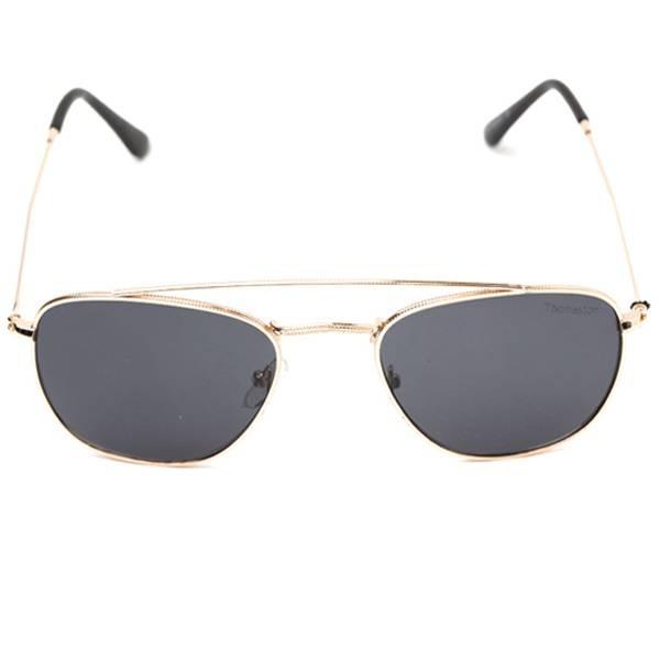 c49b24f9a4ad1 Óculos De Sol Thomaston Round Aviador Preto E Dourado - R  49,94 em ...