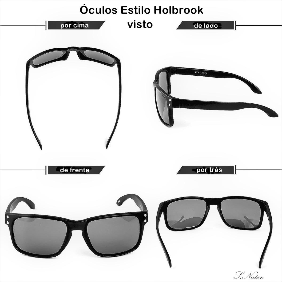 2cd0f2fd7 óculos de sol tipo holbrook preto lentes verdes espelhadas! Carregando  zoom.: