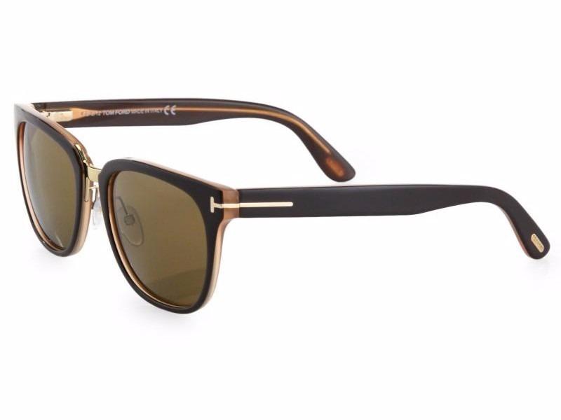 8b7a1e5864f9a Óculos De Sol Tom Ford Rock Tf 290 50j Marrom E Creme - R  499