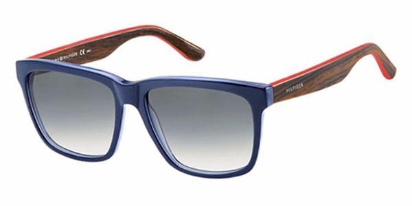 Óculos De Sol Tommy Hilfiger Th 1243s - Azul Marrom Vermelho - R ... 998f4910f2