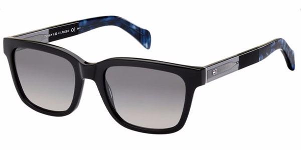 c4f265907763b Óculos De Sol Tommy Hilfiger Th 1289s Preto E Azul G7x 5320 - R  590 ...