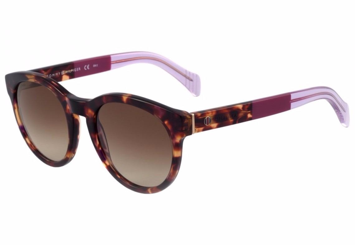 9d95cd7514 óculos de sol tommy hilfiger th 1291 s - rosa e marrom - g6x. Carregando  zoom.