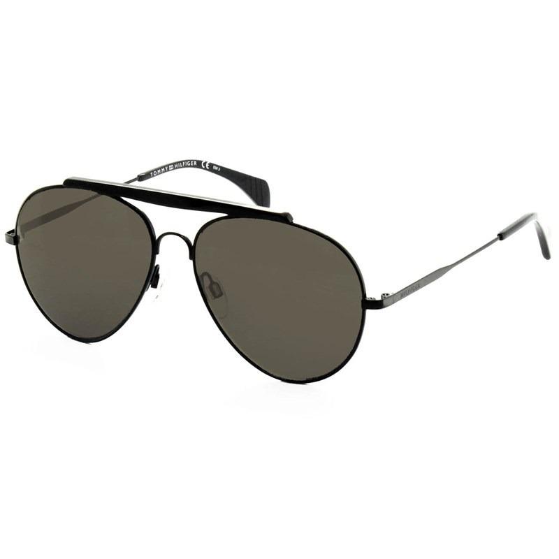 80926ec71d óculos de sol tommy hilfiger th1454 s 006 nr 58 preto cinza. Carregando zoom .