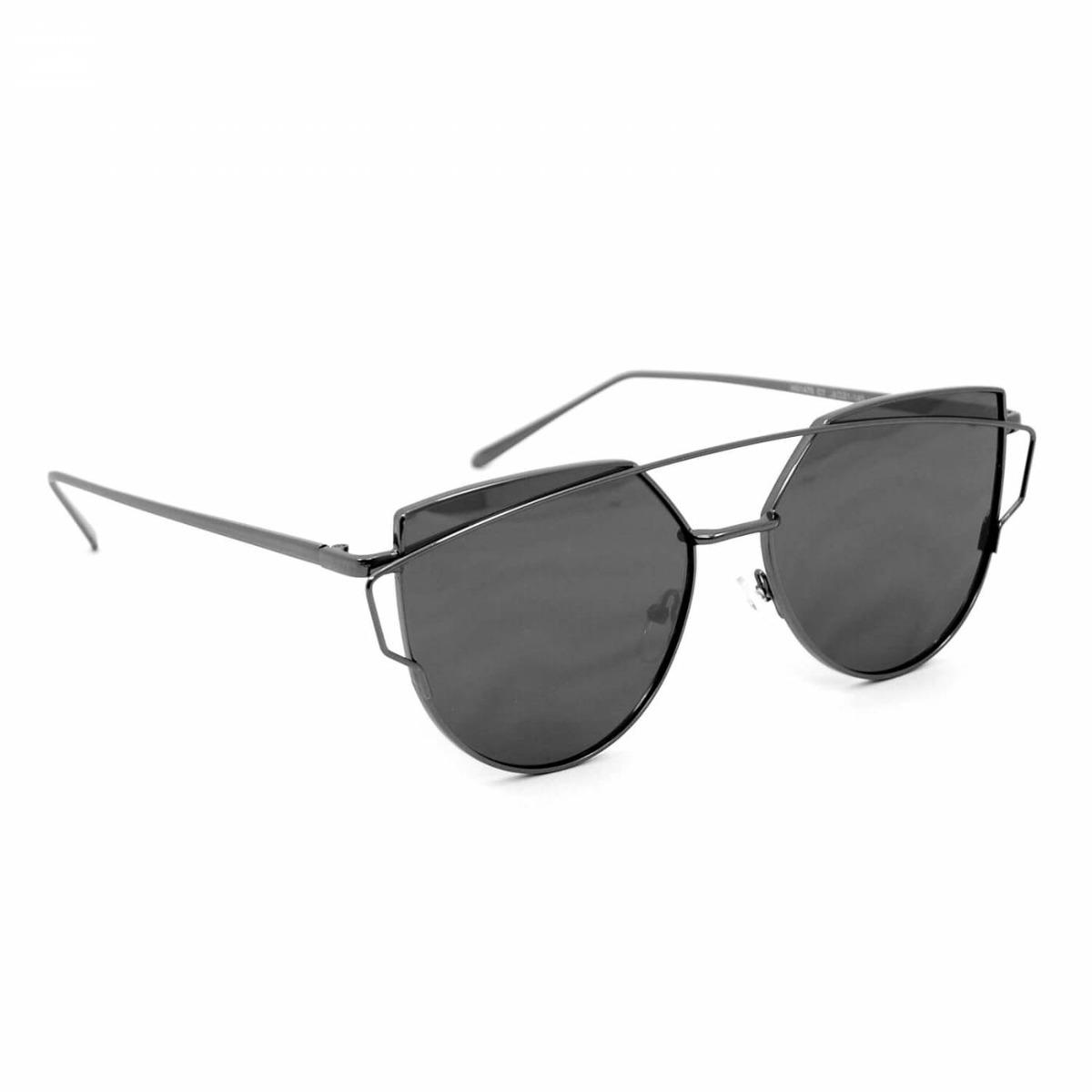 7e4ad1b54425a Óculos De Sol Top Bar Preto Style - R  114