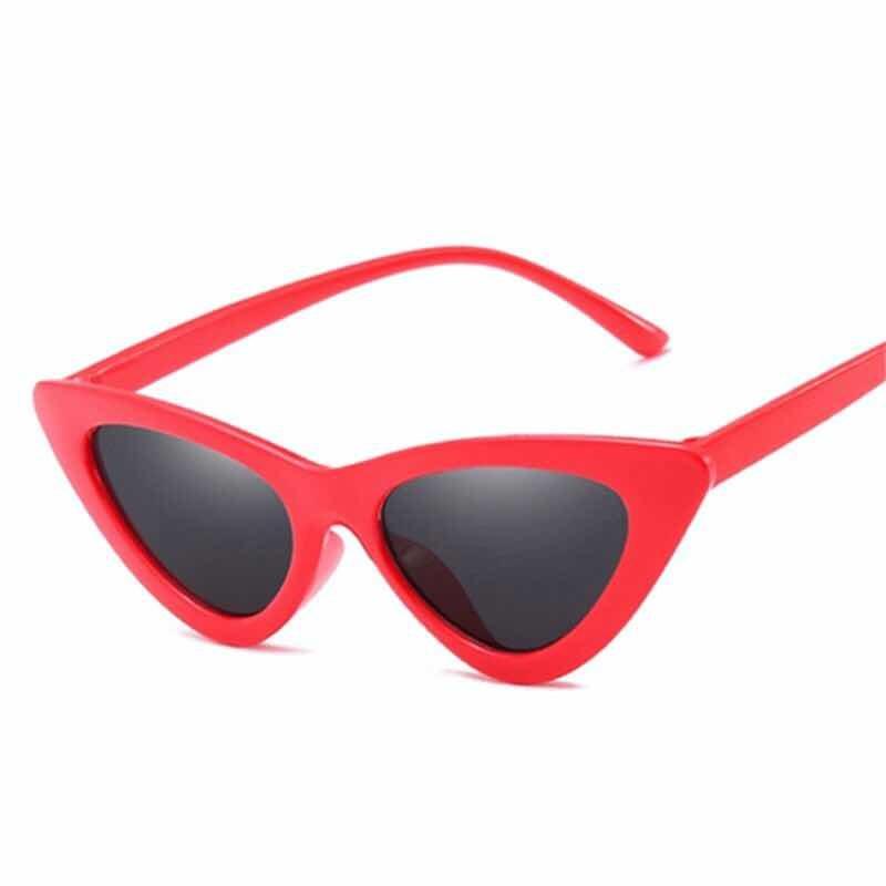 b33c6f09caf12 óculos de sol triangular retro vintage gatinho vermelho. Carregando zoom.