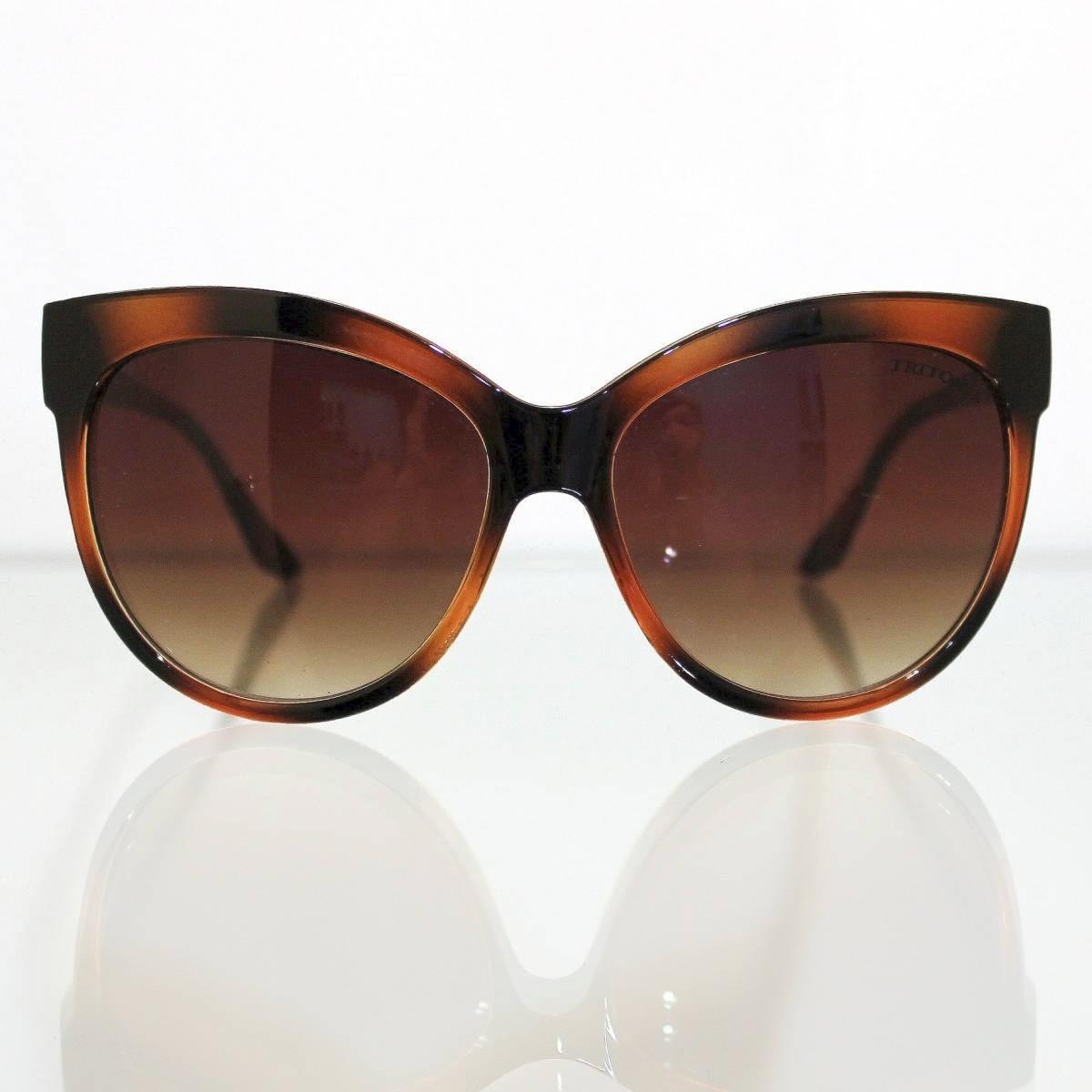 94e1698073247 óculos de sol triton grande marrom gatinho oversized + case. Carregando  zoom.